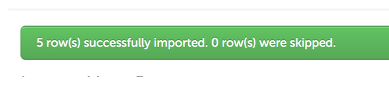 Step 6: Import Confirmation
