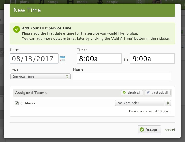 select times