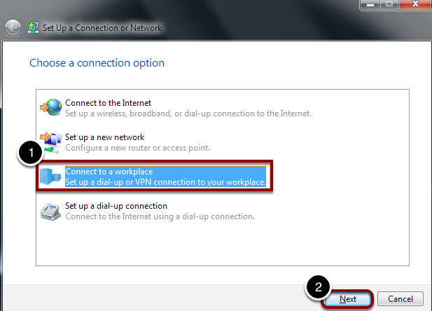 Choose a Connection Option