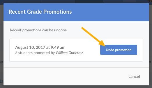 undo promotion