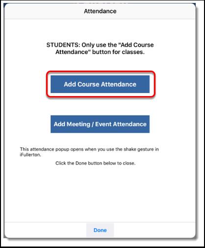 Add Course Attendance.