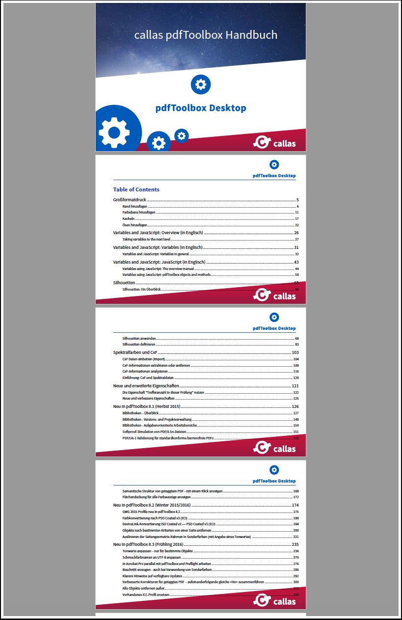 PDF bestehend aus Einzelseiten