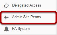Go to Admin Site Perms.