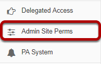 Go to Admin Site Perms.