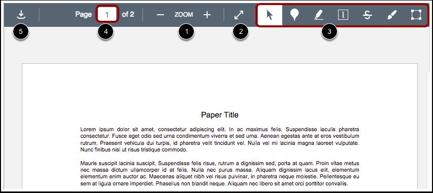 Vis DocViewer-verktøylinjen