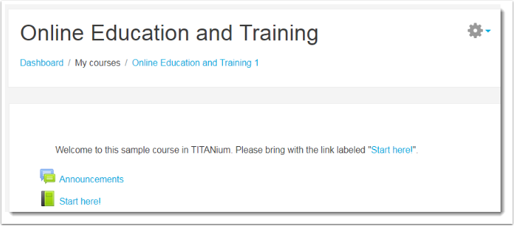 Enter your course in TITANium.