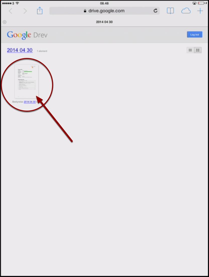 Åbn den aktualle PDF-fil