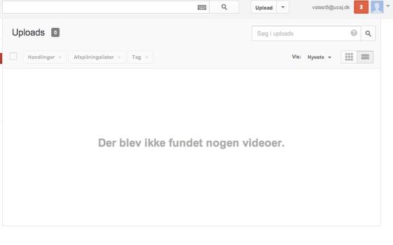 Så er der gjort klar til at Youtube kan anvendes
