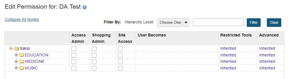 Expand hierarchy nodes.