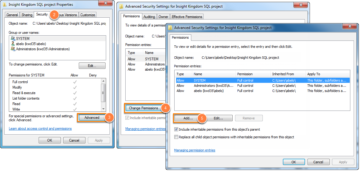 Access denied when permissions are inherited from parent