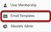 Go to the Email Templates tool.