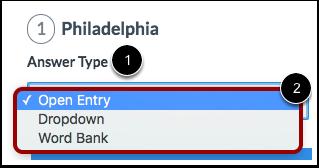 Select Answer Type