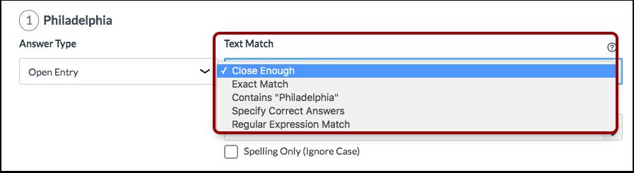 Select Text Match