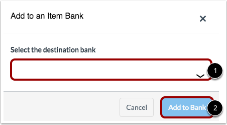 Select Item Bank