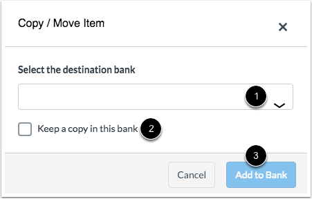 Choose Item Bank
