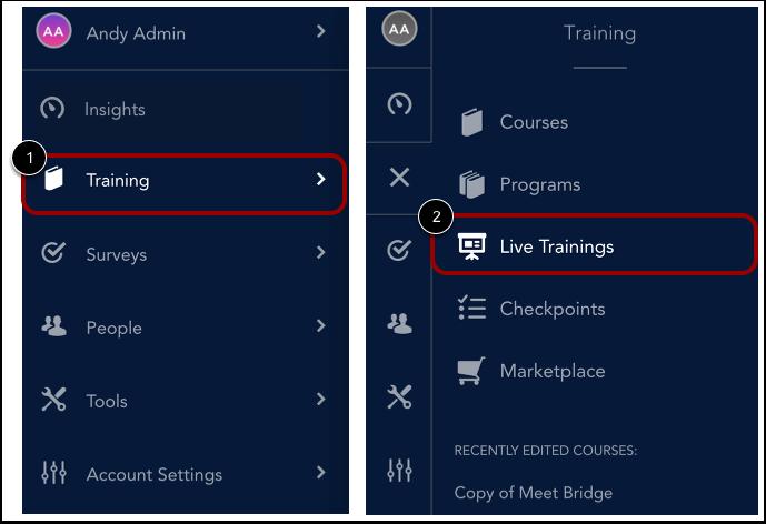 Open Live Training