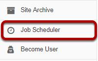 Go to the Job Scheduler tool.