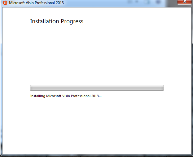 wait for program to install - Microsoft Visio For Windows 7