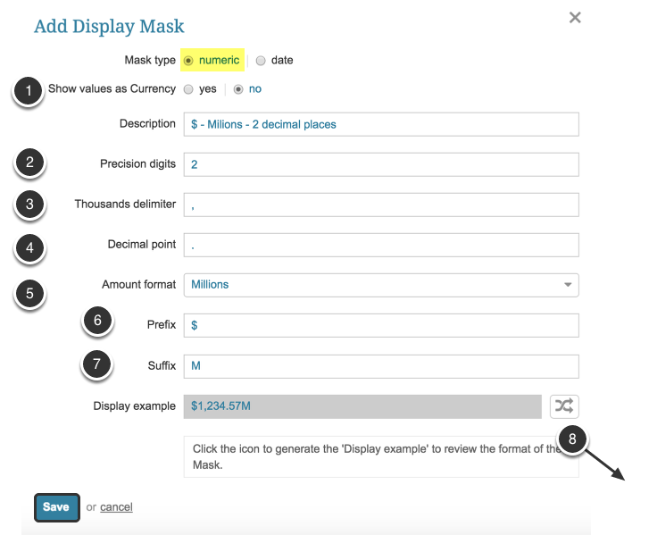 Create 'Numeric' Mask Type