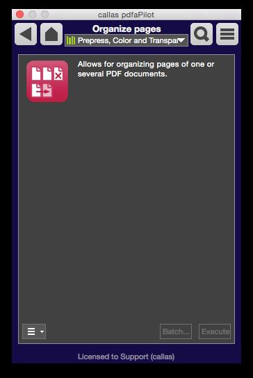 Switchboard: Seiten anordnen