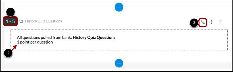Edit Item Bank Question Settings