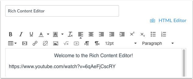 Insert Link into Rich Content Editor