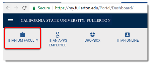 Click on TITANium Faculty.