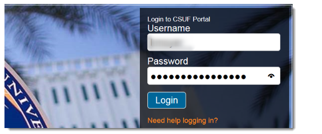 Log in to the CSUF Portal.