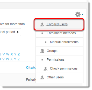Click on Enrolled users.