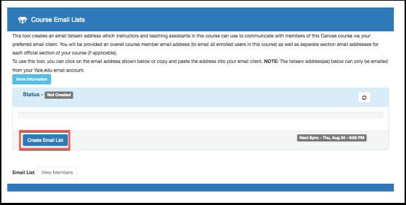 Create Email List