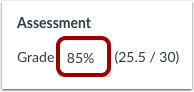 Enter Percentage Grade