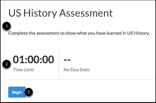Begin Assessment