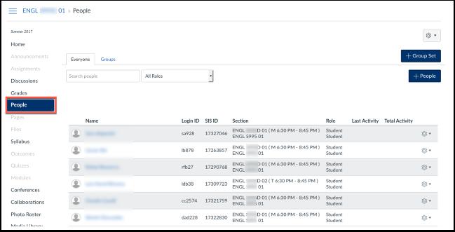 screenshot of people tool