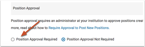 "Check ""New positions require approval"""