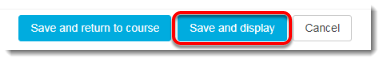 Click on Save and display after adjusting the restrict access settings.