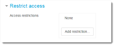 Or remove the Restrict access as shown here.