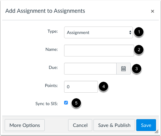 Enter Assignment Details