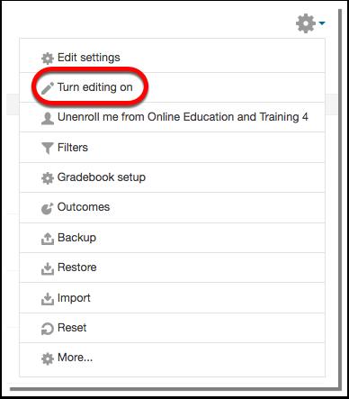 Turn editing on