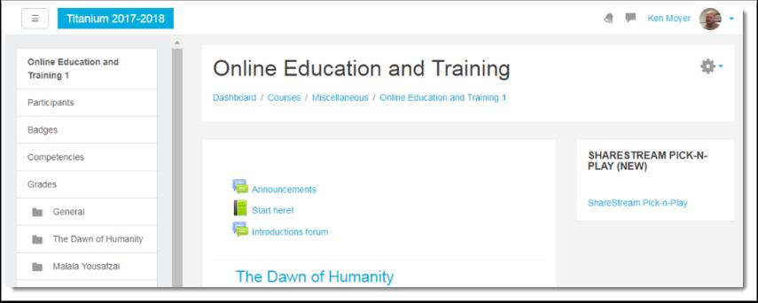 Enter your course in TITANium.