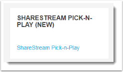 ShareStream pick n play block.