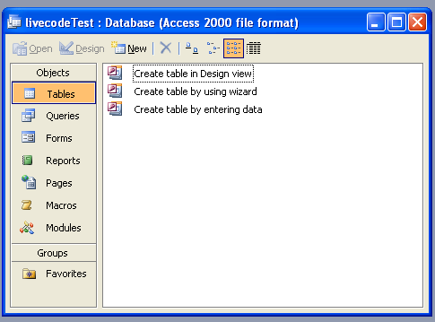 Creating a Database using MS Access