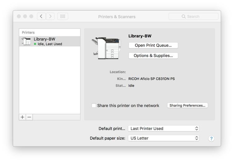 How Do I: Add a PaperCut Printer on a Mac? – CalArts Information
