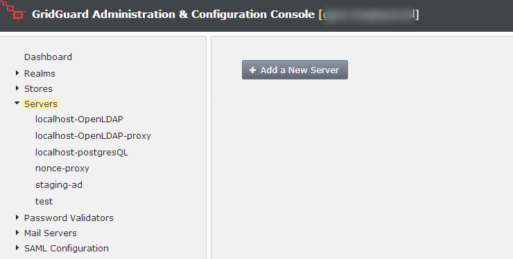 Launch the Administration & Configuration Console, Select the 'Servers' node