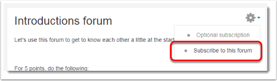 Click on the Gear icon within the forum.