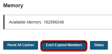 Click Evict Expired Members.