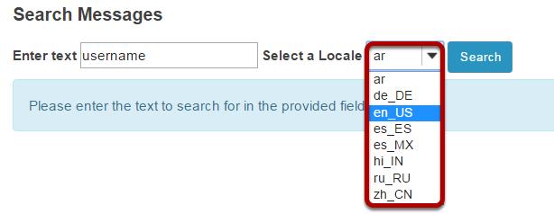 Select language.
