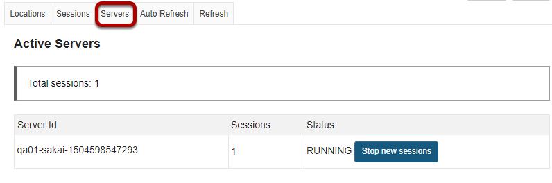View active servers.