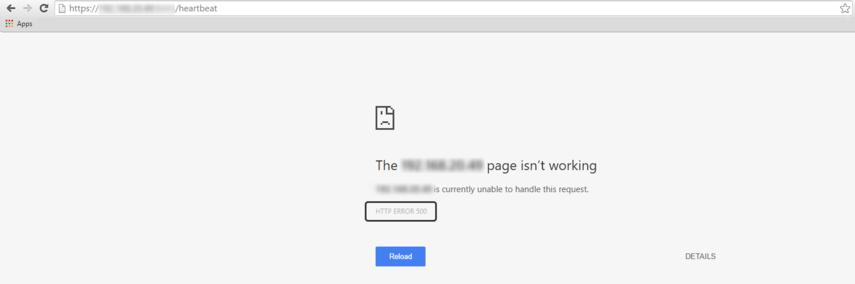 [HTTP ERROR 500] (Internal Server Error)