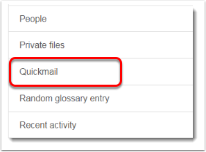 Quickmail is selected.
