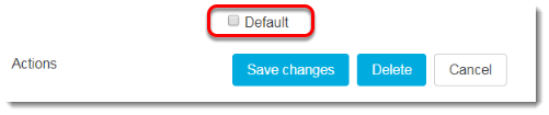 Default checkbox is unchecked.